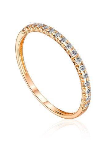 Bright Gold Diamond Ring, Ring Size: 7 / 17.5, image