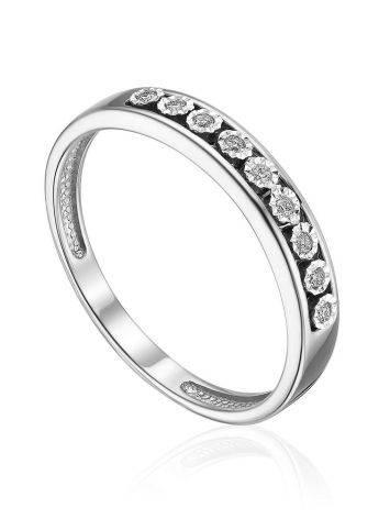 Fashionable White Gold Diamond Ring, Ring Size: 5 / 15.5, image