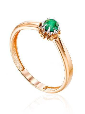 Refined Gold Emerald Ring, Ring Size: 6 / 16.5, image