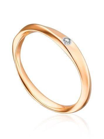 Twisted Shank Gold Diamond Ring, Ring Size: 5 / 15.5, image