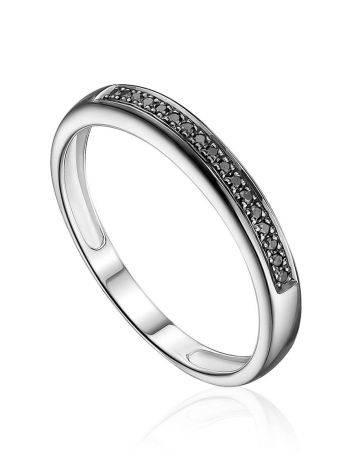 Shimmering Black Diamond Row Ring, Ring Size: 8 / 18, image