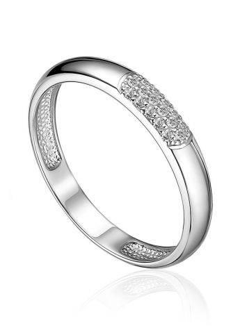Laconic Design White Gold Diamond Ring, Ring Size: 6 / 16.5, image