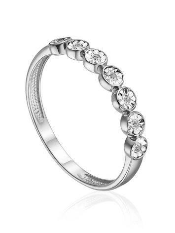 Chic Bezel Set Diamond Ring, Ring Size: 5.5 / 16, image