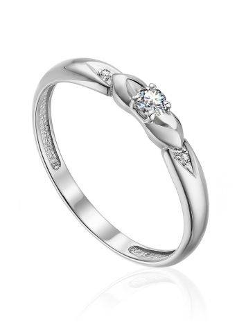 Refined White Gold Diamond Ring, Ring Size: 6 / 16.5, image