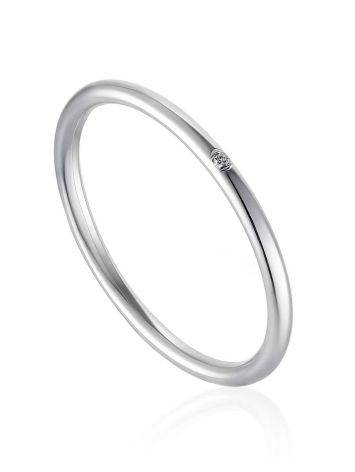 Refined White Gold Diamond Ring, Ring Size: 8.5 / 18.5, image