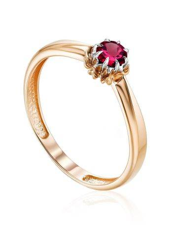 Chic Gold Ruby Ring, Ring Size: 6.5 / 17, image