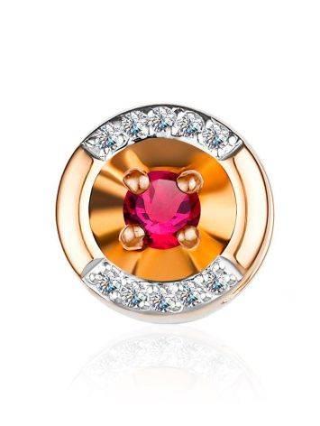 Chic Ruby Diamond Pendant, image