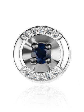 Chic White Gold Pendant With Sapphire And Diamonds, image