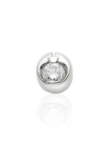 Minimalist White Gold Diamond Pendant, image