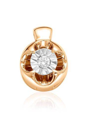 Tiny Gold Diamond Pendant, image