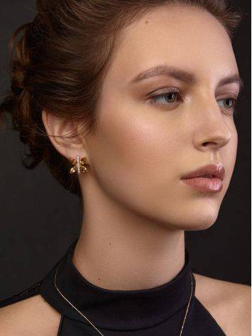 Lustrous Gold Citrine Butterfly Earrings The April, image , picture 3