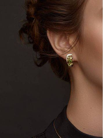 Golden Chrysolite Earrings, image , picture 3