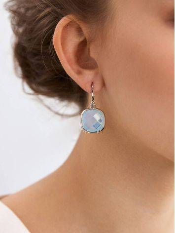 Chic Blue Agate Drop Earrings, image , picture 3