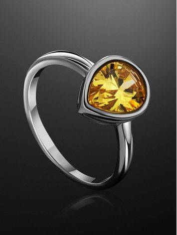 Lustrous Yellow Crystal Ring, Ring Size: 8 / 18, image , picture 2