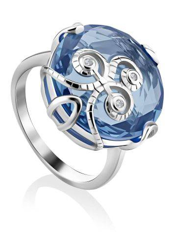 Exquisite Silver Crystal Ring, Ring Size: 6 / 16.5, image
