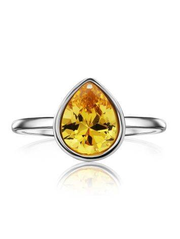 Lustrous Yellow Crystal Ring, Ring Size: 8 / 18, image , picture 3
