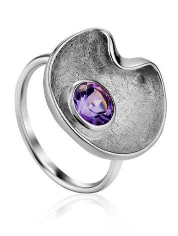 Chic Silver Amethyst Ring, Ring Size: 9.5 / 19.5, image