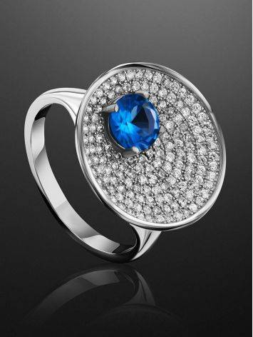 Stunning Silver Crystal Ring, Ring Size: 9.5 / 19.5, image , picture 2