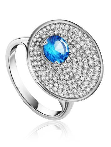 Stunning Silver Crystal Ring, Ring Size: 9.5 / 19.5, image