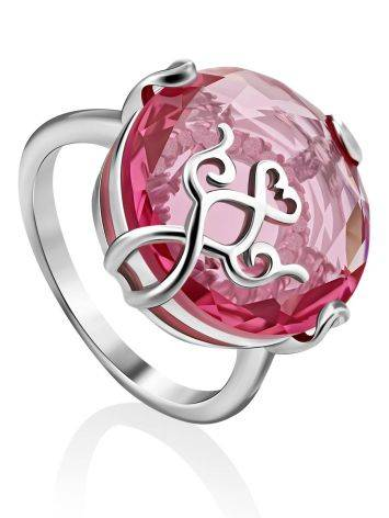 Dazzling Pink Crystal Ring, Ring Size: 6.5 / 17, image