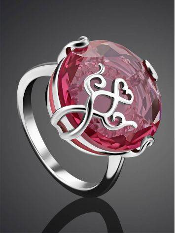 Dazzling Pink Crystal Ring, Ring Size: 6.5 / 17, image , picture 2