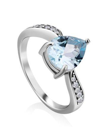 Classy Silver Topaz Ring, Ring Size: 7 / 17.5, image