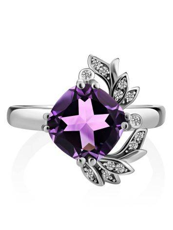 Chic Silver Amethyst Ring, Ring Size: 6.5 / 17, image , picture 3