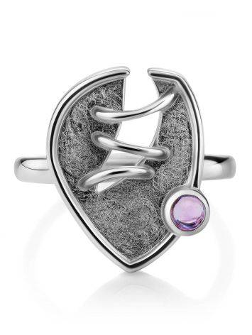Designer Silver Amethyst Ring, Ring Size: 8.5 / 18.5, image , picture 3