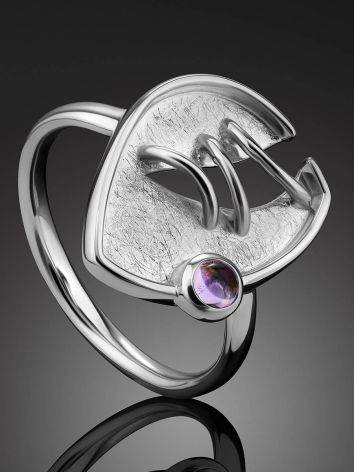 Designer Silver Amethyst Ring, Ring Size: 8.5 / 18.5, image , picture 2