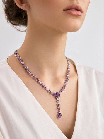Voluptuous Silver Amethyst Necklace, image , picture 3