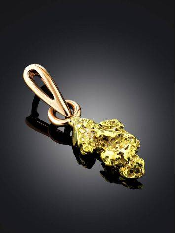 Bright 24K Gold Pendant The Nugget, image , picture 2