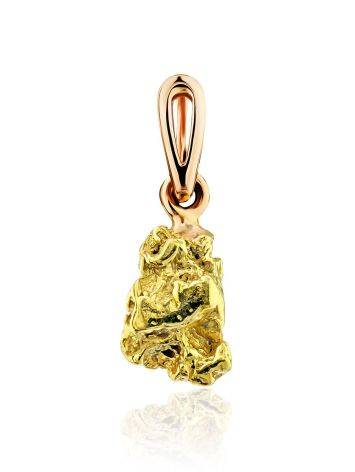 Textured 24K Gold Pendant The Nugget, image