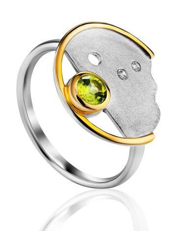 Amazing Silver Chrysolite Ring, Ring Size: 8.5 / 18.5, image
