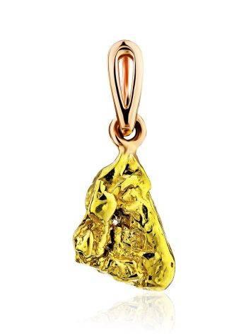 Unique 24K Gold Pendant The Nugget, image