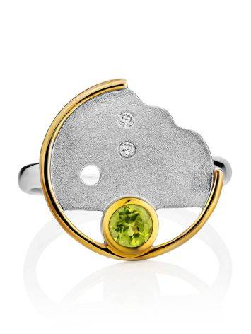 Amazing Silver Chrysolite Ring, Ring Size: 8.5 / 18.5, image , picture 3
