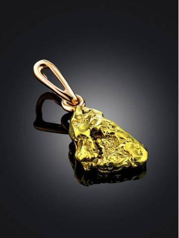 Unique 24K Gold Pendant The Nugget, image , picture 2