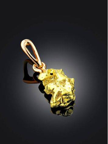 Textured 24K Gold Pendant The Nugget, image , picture 2