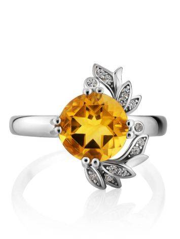 Luminous Silver Citrine Ring, Ring Size: 8 / 18, image , picture 3