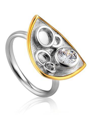 Amazing Silver Crystal Ring, Ring Size: 8 / 18, image