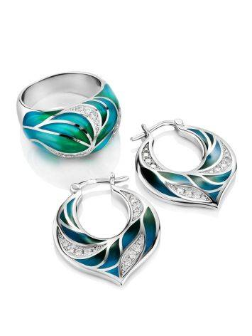 Colorful Silver Enamel Earrings, image , picture 3