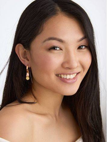 Designer Gilded Silver Amber Hook Earrings The Palazzo, image , picture 3