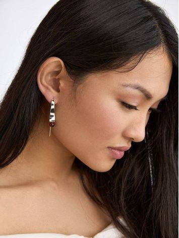 Stunning Silver Hook Earrings With Amber The Palazzo, image , picture 3