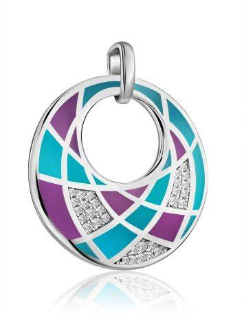 Chic Round Pendant With Mix Color Enamel, image , picture 3
