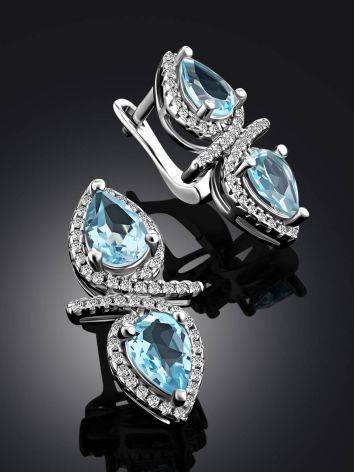 Wonderful Blue Topaz Earrings, image , picture 2