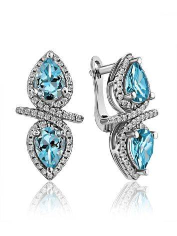 Wonderful Blue Topaz Earrings, image