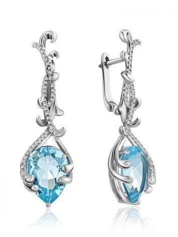 Fabulous Silver Topaz Dangle Earrings, image