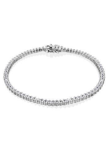 Versatile Silver Crystal Tennis Bracelet, image
