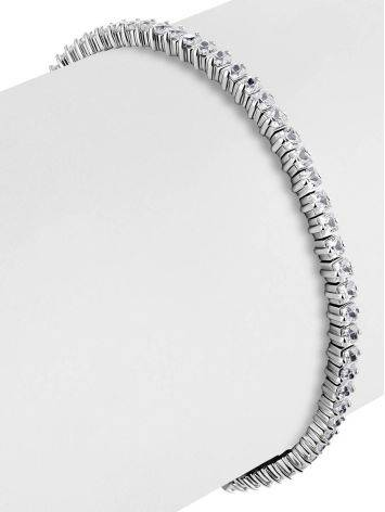 Versatile Silver Crystal Tennis Bracelet, image , picture 3