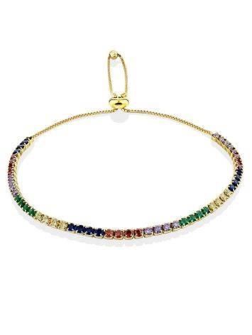 Multicolor Crystal Tennis Bracelet, image