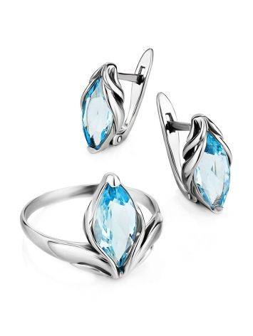 Refined Silver Topaz Earrings, image , picture 3